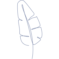 A Leaf and Butterfly Study Linen by John Derian