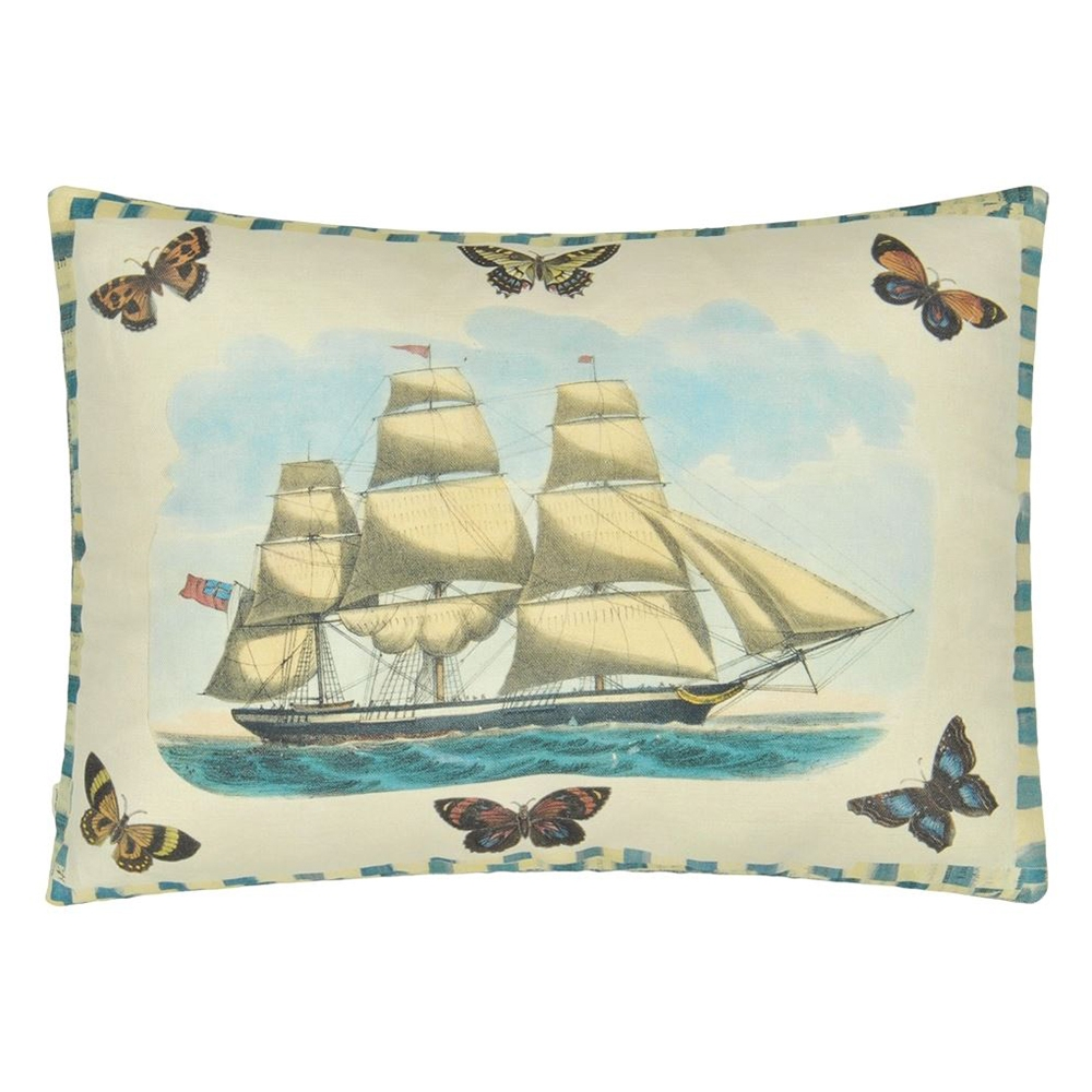 Blue Coral Delft Decorative Pillows by John Derian