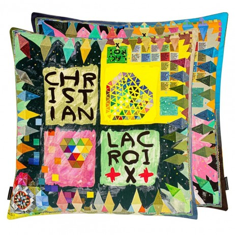 Arlecchino Wood Decorative Pillows by Christian Lacroix
