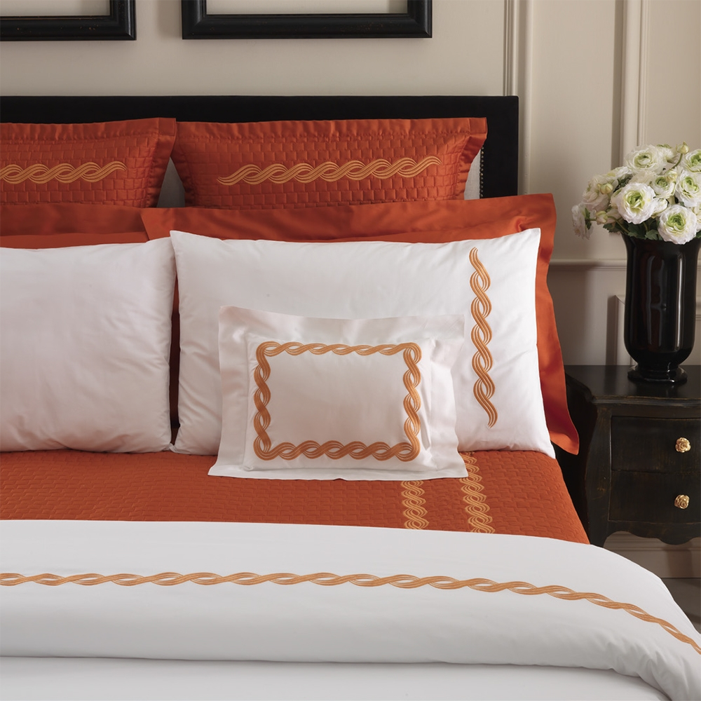 Monica Embroidery Coverlet by Dea Linens